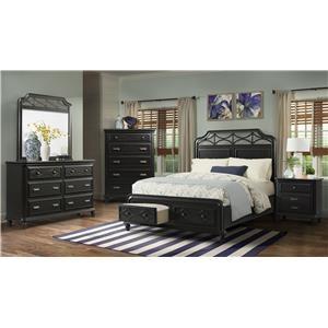 4-Piece Black Queen Bedroom Group