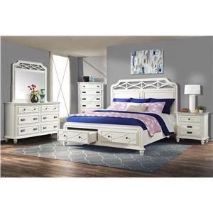4-Piece White Bedroom Set