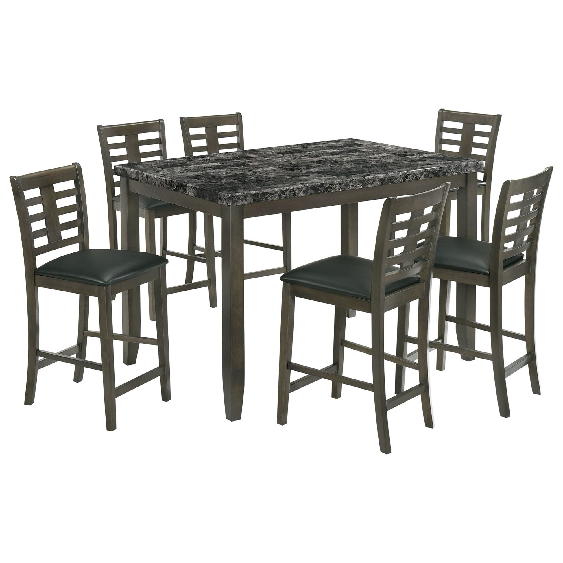 Nash 7 Piece Counter Set by Elements International at Smart Buy Furniture