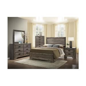 Full Plank Bed, Nightstand and Chest Package