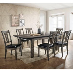Rustic 7-Piece Dining Room Table Set