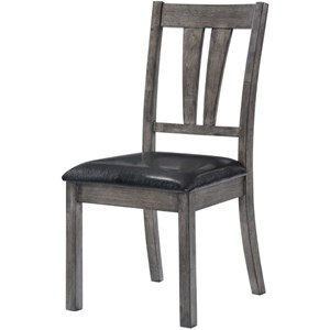 Dining Side Chair with Upholstered Seat