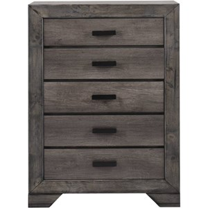 Rustic Chest with Five Drawers