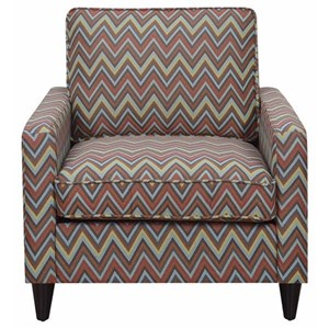Upholstered Chair with Track Arms