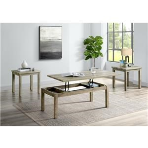 Lift Top Cocktail and Two End Tables