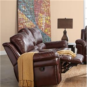 Power Motion Loveseat with Storage Console and Cup Holders