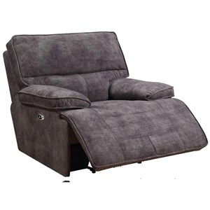 Memory Foam Glider Recliner with Pillow Arms
