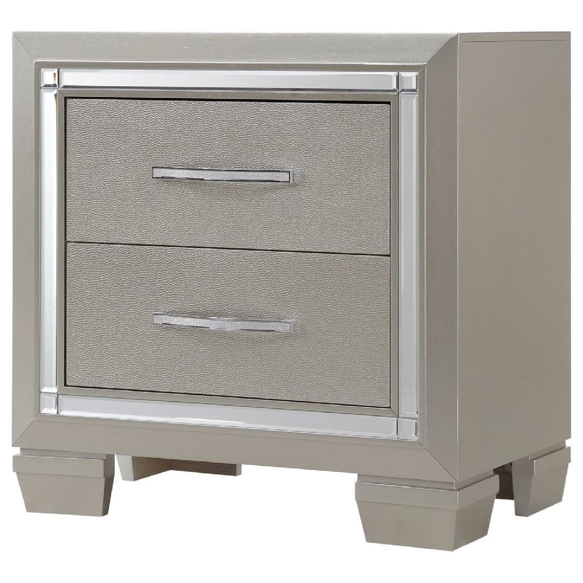 Platinum Nightstand by Elements International at Furniture Fair - North Carolina