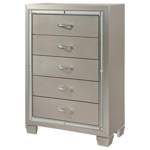 Glamorous Five Drawer Chest