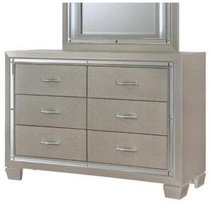 Glamorous Six Drawer Dresser