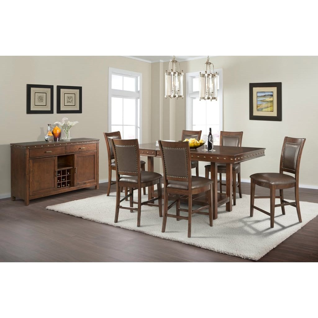Prescott Counter Height Dining Room Group by Elements International at Smart Buy Furniture