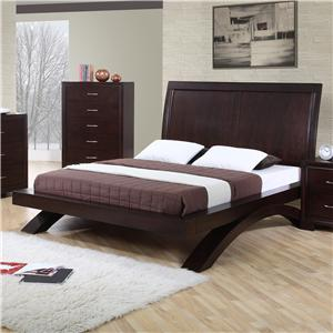 King Contemporary Platform Bed