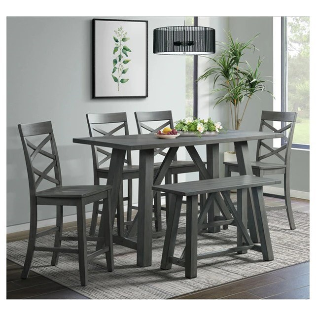 Renegade 6-Piece Pub Table Set by Elements International at Becker Furniture