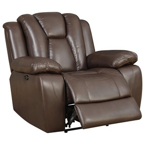 Glider Recliner with Deeply Channeled Backrest