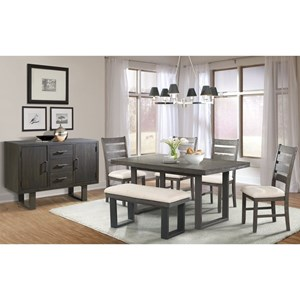Rustic Dining Group with Bench