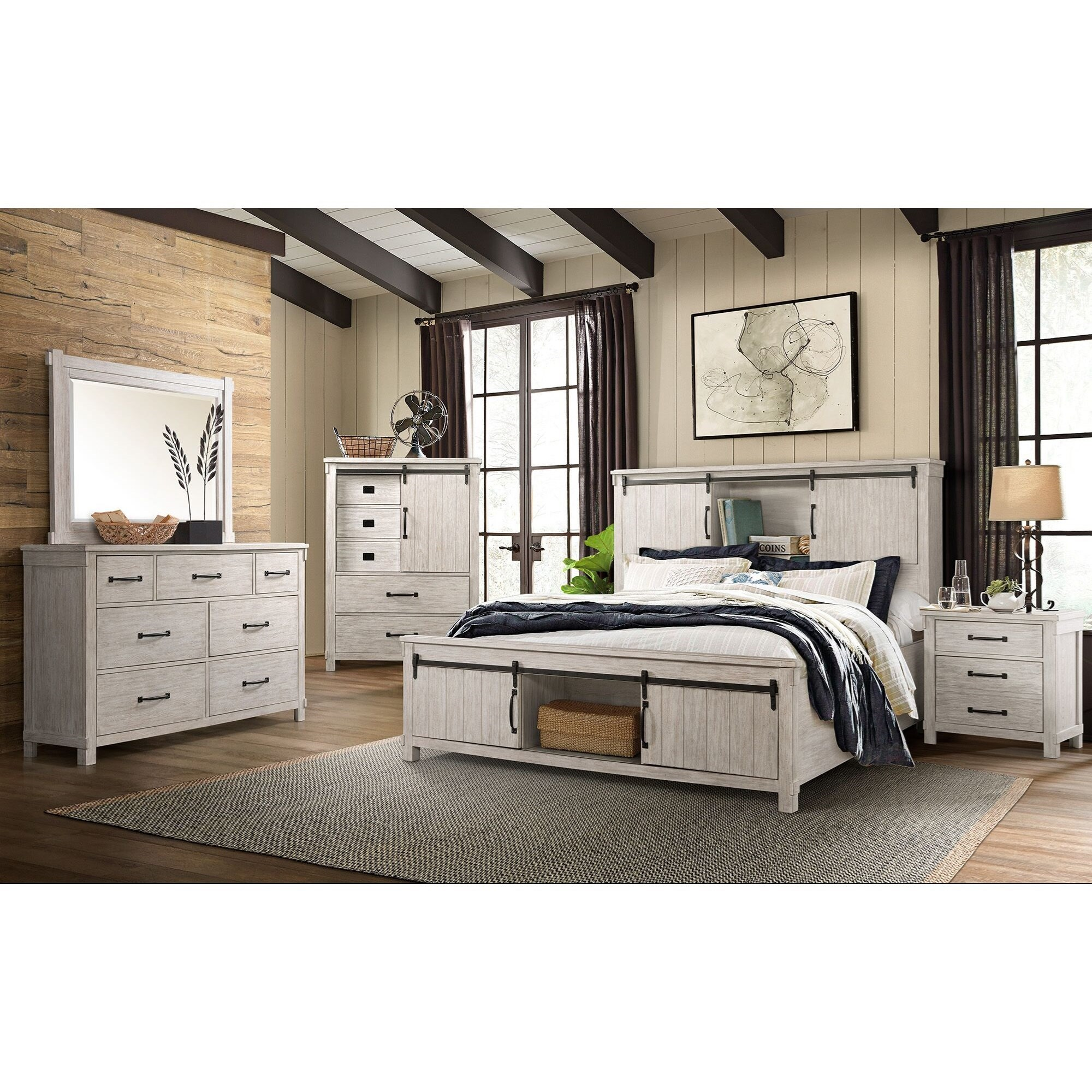 Scott Queen Bedroom Group by Elements International at Bullard Furniture