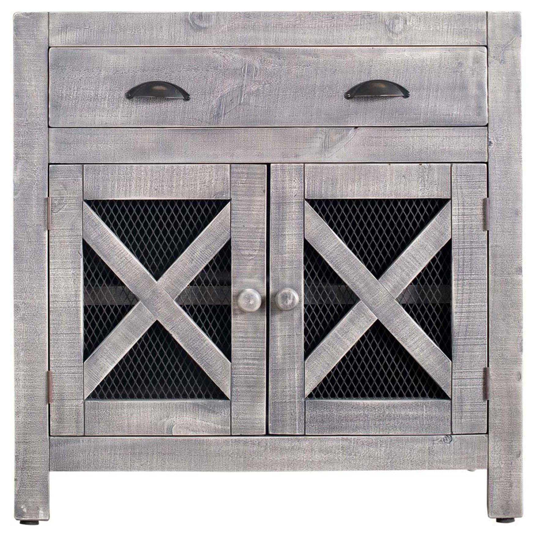Simon 2-Door Accent Chest by Elements International at Bullard Furniture
