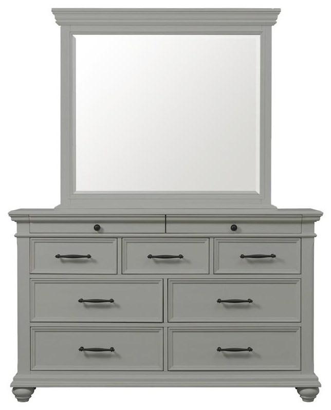 Slater Dresser and Mirror Set by Elements International at Johnny Janosik
