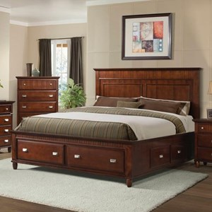 Full Panel Bed with Storage Drawers