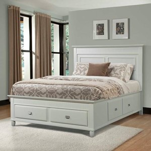 Queen Panel Bed with Storage Drawers