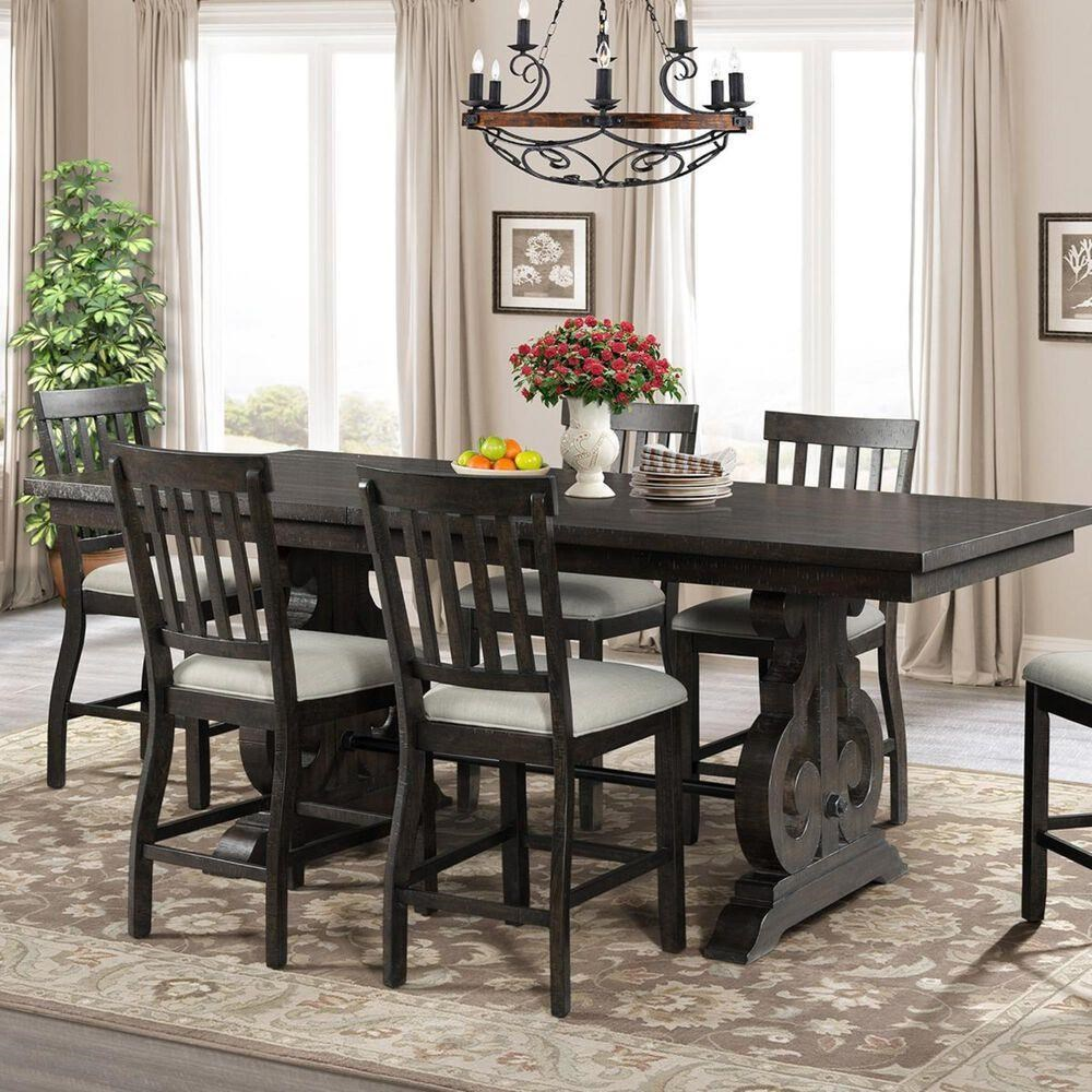 Stone 7 Piece Counter Height Dining Set by Elements International at Sam Levitz Furniture