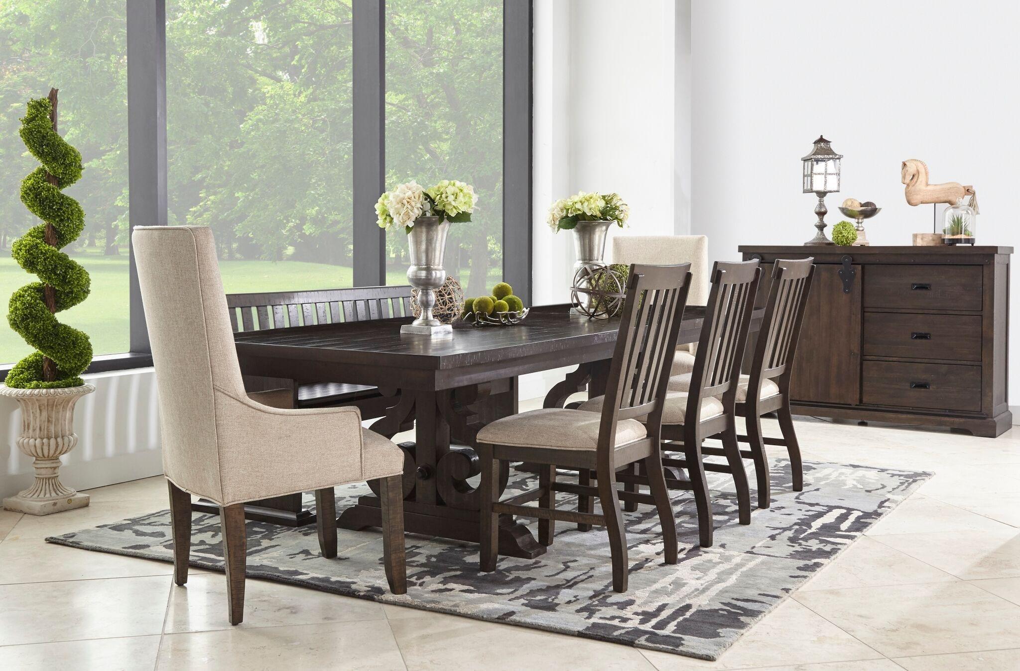 Stone 6 Piece Dining Room Set by Elements International at Sam Levitz Furniture