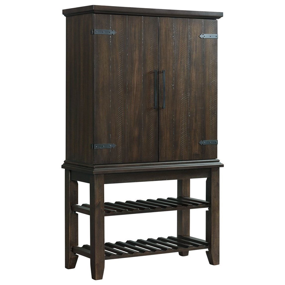 Stone Kitchen Bar Hutch Set by Elements International at Household Furniture