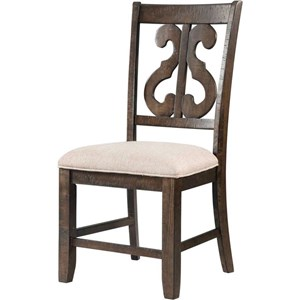 Scroll Back Dining Side Chair