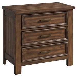 Transitional 3-Drawer Nightstand with Felt-Lined Top Drawer