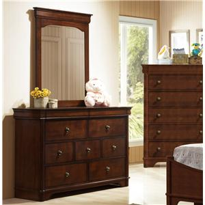 Elements International Taylor  Dresser & Mirror Set