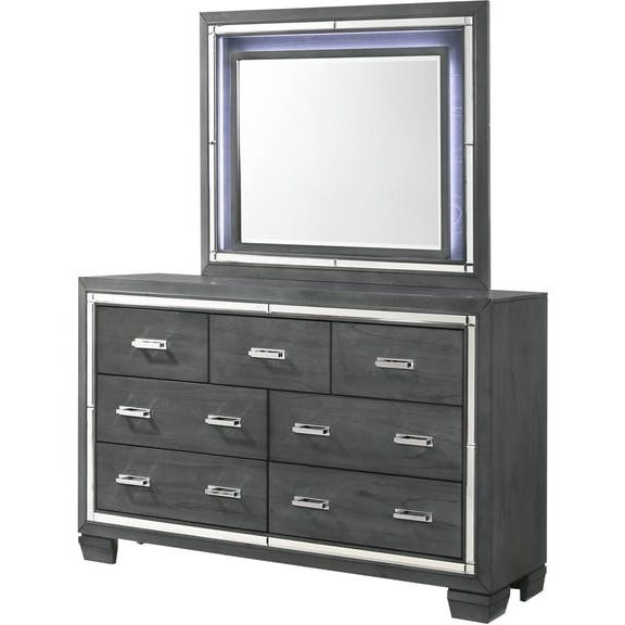 Galaxy Dresser and Mirror Combo at Walker's Furniture