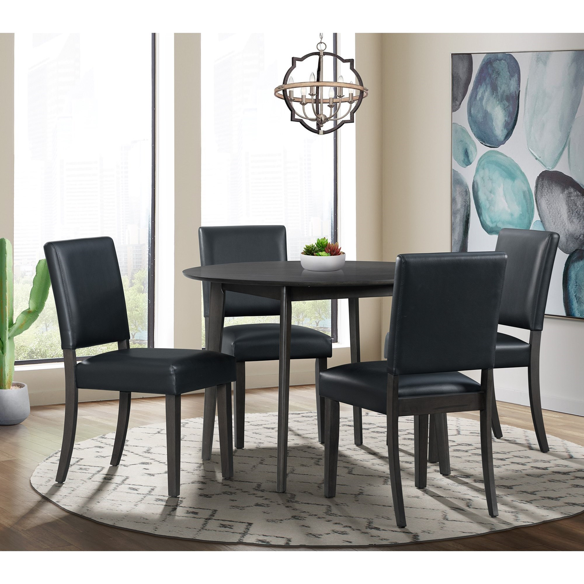 Trent Round 5PC Dining Set by Elements International at Becker Furniture