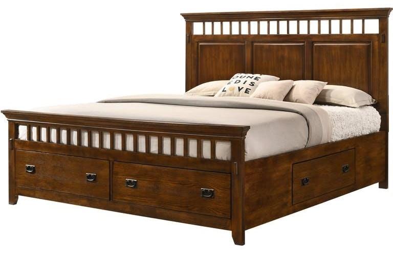 King Mission Storage Bed
