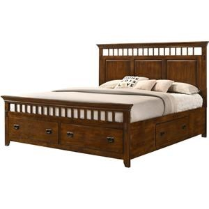 King Mission Storage Bed