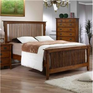 Mission Style King Bed with Slat Headboard and Footboard