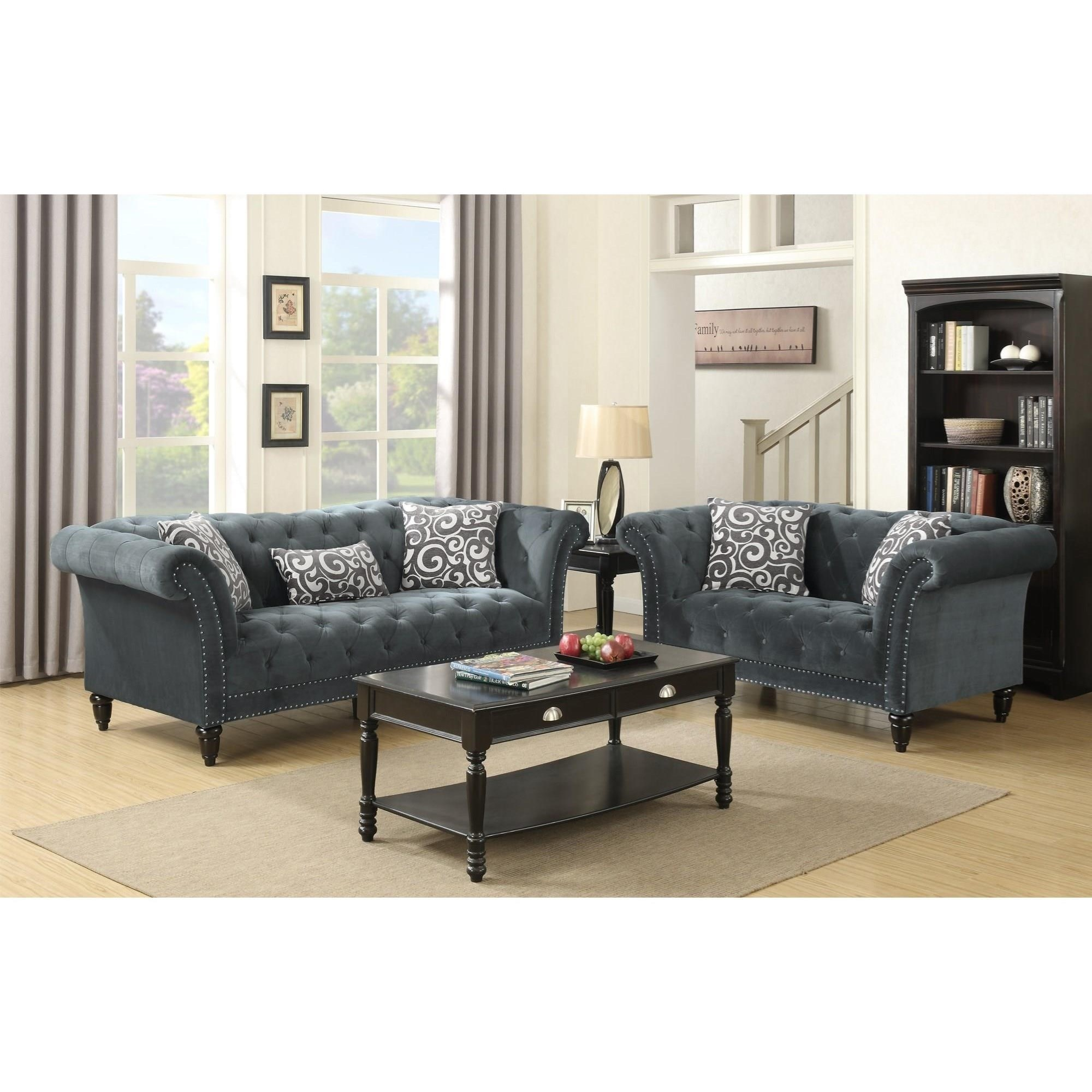 Twain Sofa & Loveseat Set by Elements International at Wilcox Furniture