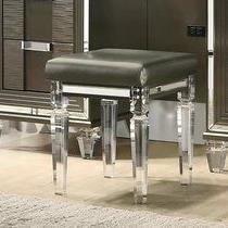 Twenty Nine Vanity Stool w/ Acrylic Legs by Elements International at Bullard Furniture