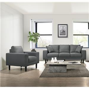Grey Sofa and Chair Living Room Set