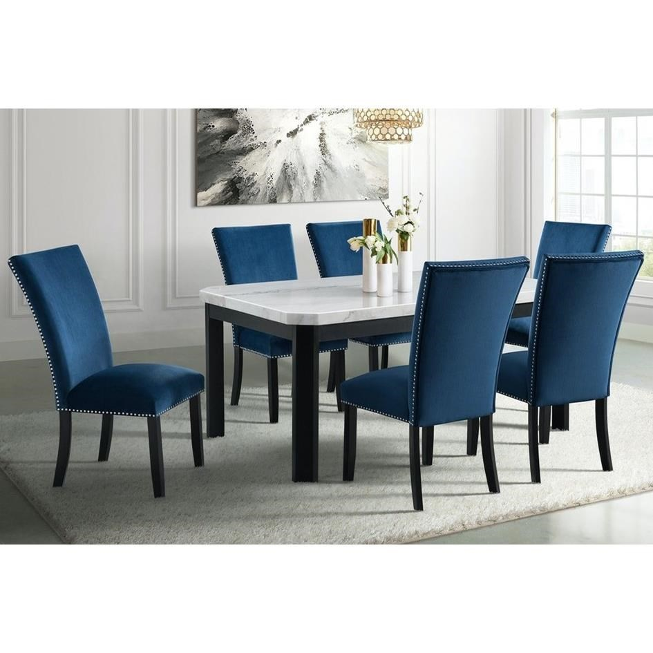 Francesca 7-Piece Dining Table and Chair Set by Elements International at Household Furniture