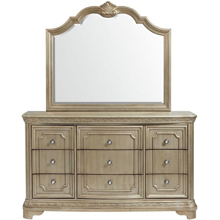 Vincenza Dresser and Mirror Set by Elements International at Bullard Furniture