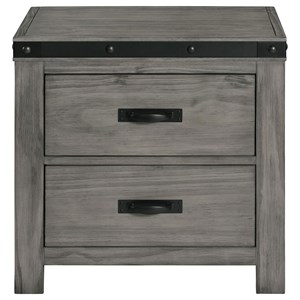 Contemporary 2-Drawer Nightstand with Felt-Lined Drawer