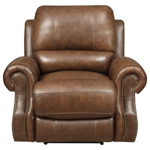 Power Motion Recliner with Rolled Arms