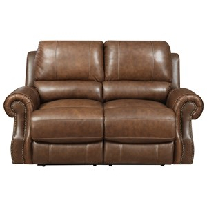 Power Motion Loveseat with Rolled Arms