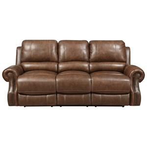 Power Motion Sofa with Rolled Arms