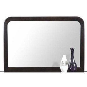 Framed Dresser Mirror with Rounded Corners
