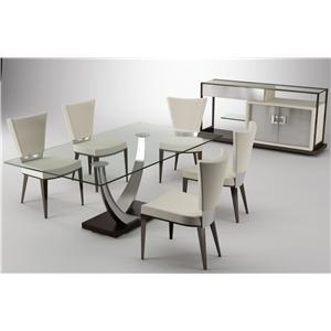 Elite Modern Modern Dining 6 Piece Table & Chair Set