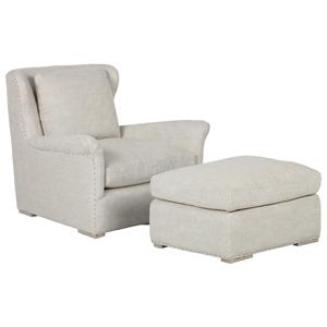 Elite Leather Bespoke Elise Chair and Ottoman Set
