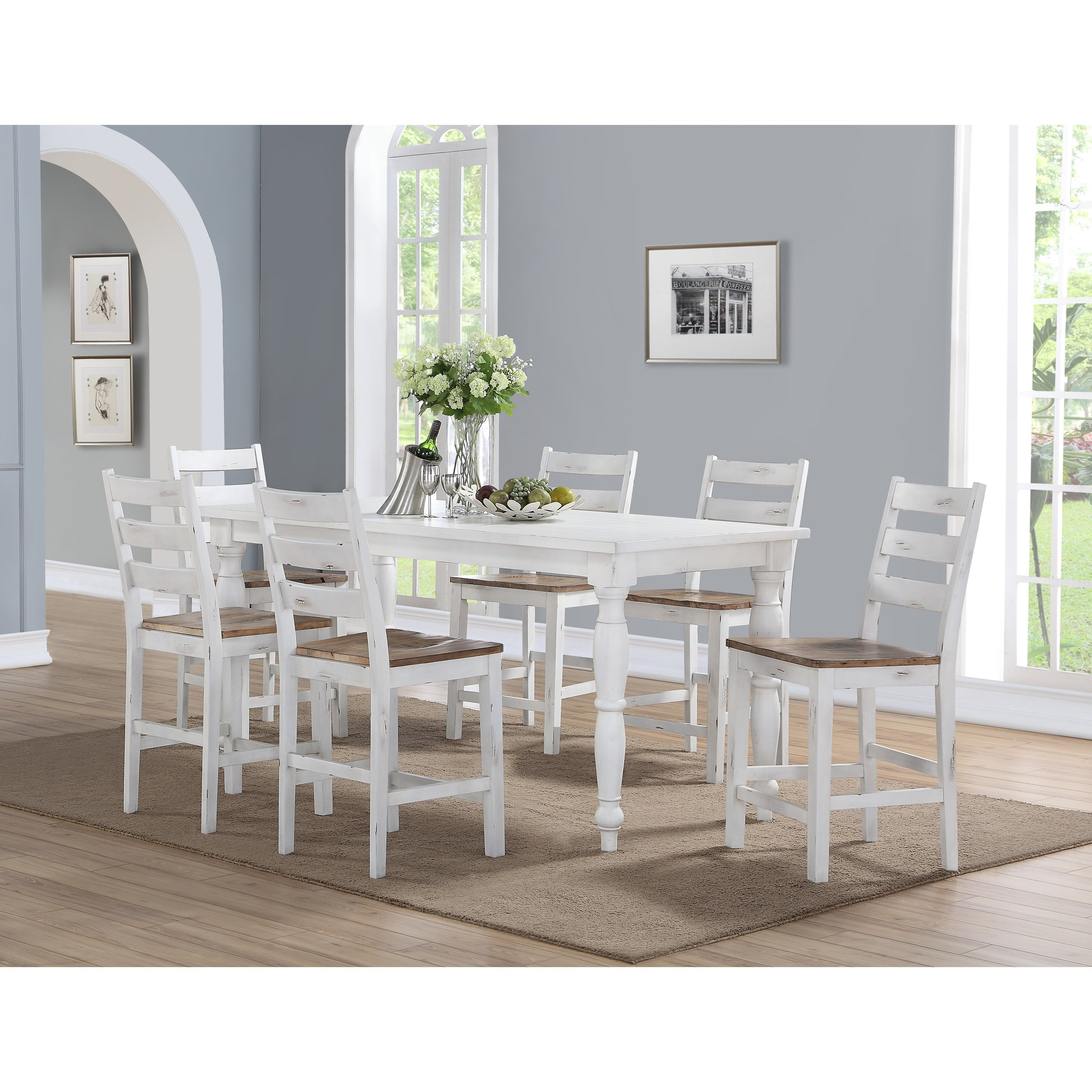 Abaco Gathering Table and Barstool Set by Emerald at Michael Alan Furniture & Design