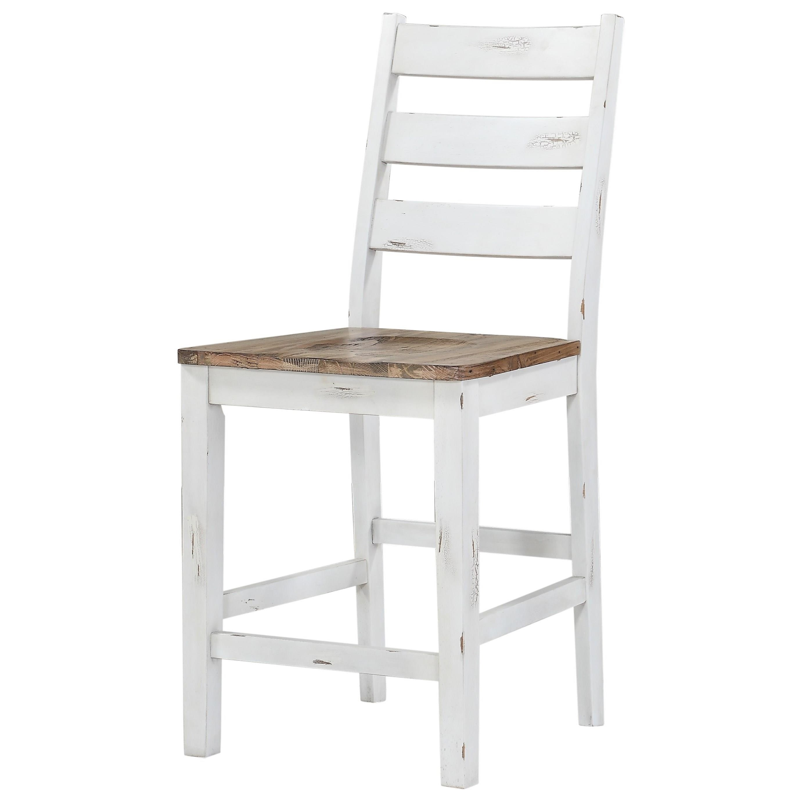 Abaco Ladderback Barstool by Emerald at Northeast Factory Direct