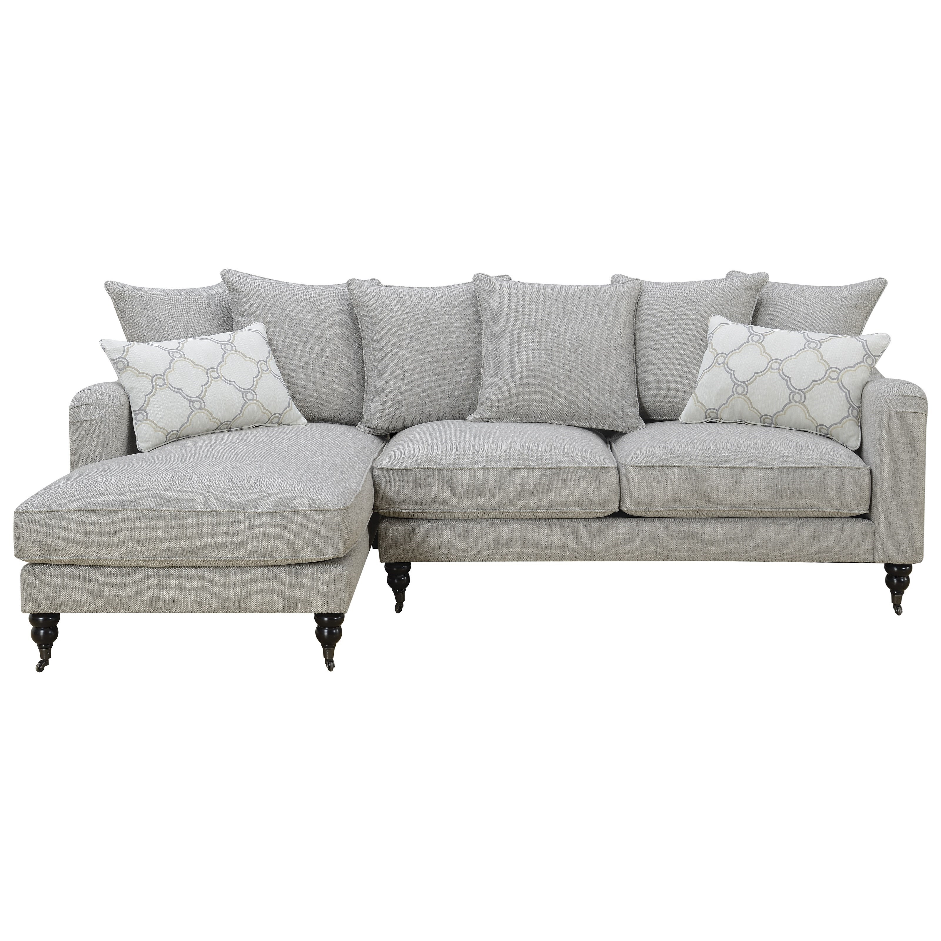 Amelie Sectional Sofa with Chaise by Emerald at Northeast Factory Direct
